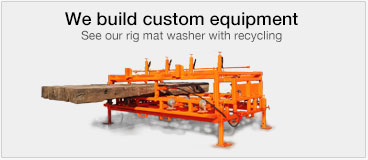 rig mat cleaning equipment